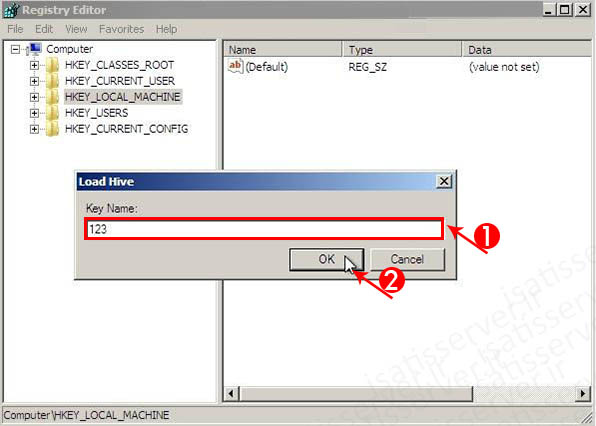 07 reset pass regedit load hive file system key name isatisserver